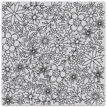 Hero Arts - Cling Rubber Stamp - Flowers for Coloring Bold Prints