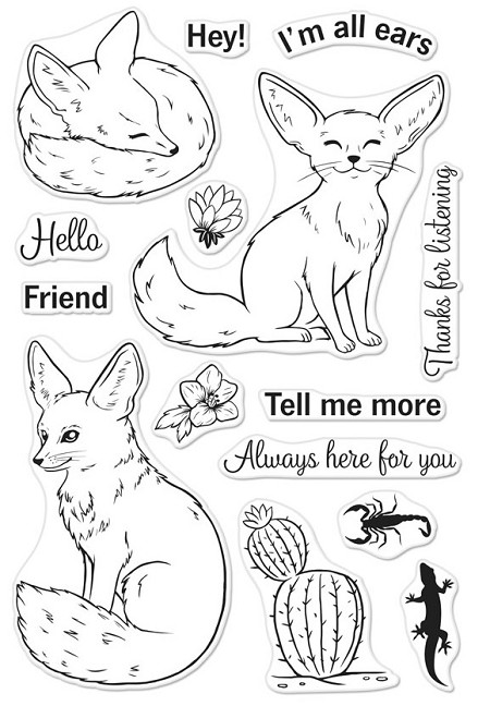 Hero Arts - Clear Stamp - Fennec the Fox