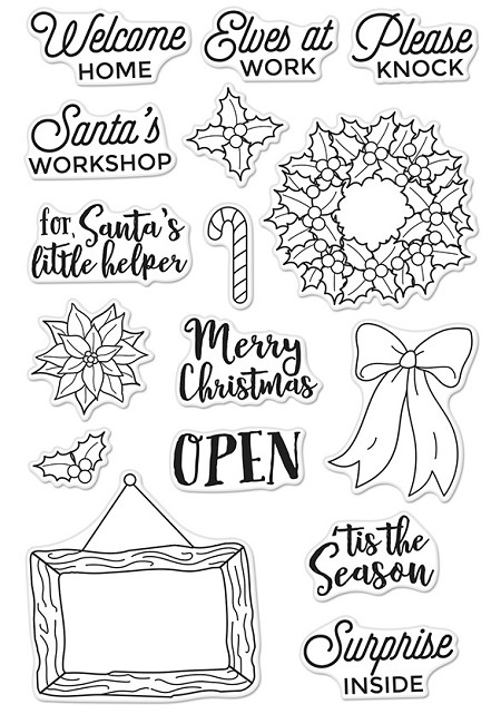 Hero Arts - Clear Stamp - Santa's Door Accessories