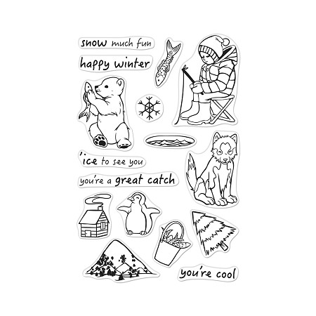 Hero Arts - Clear Stamp - Ice Fishing