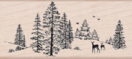 Hero Arts-Wood Mounted Rubber Stamp-Winter Scene