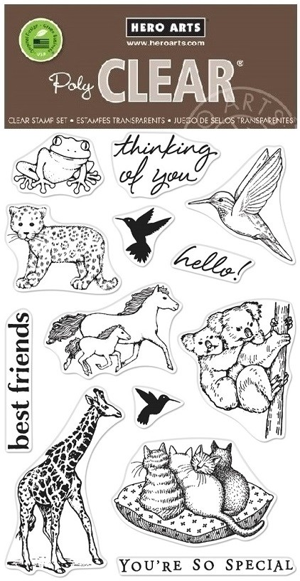 Hero Arts - Clear Stamp - Realistic Animals From the Vault