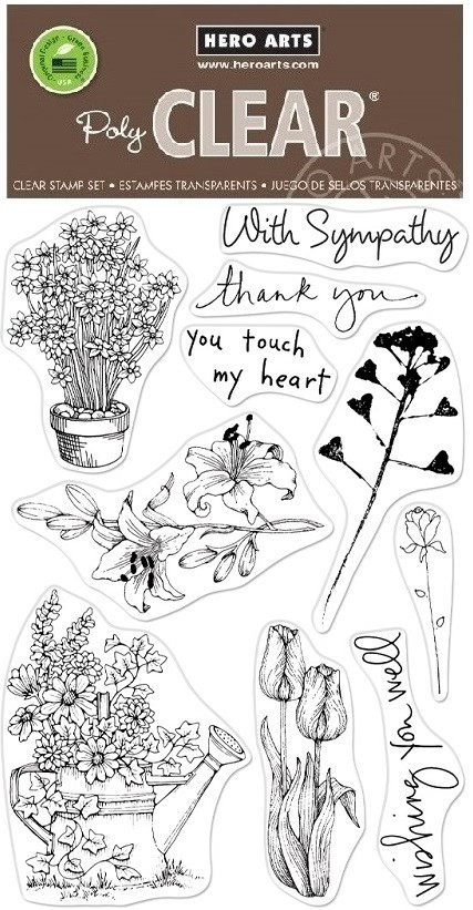 Hero Arts - Clear Stamp - Flowers From the Vault