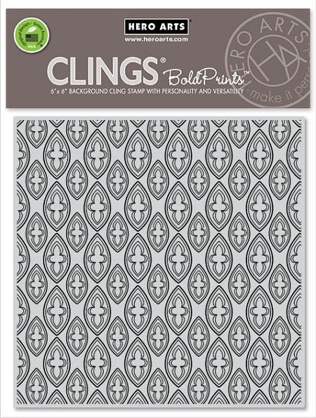Hero Arts - Cling Rubber Stamp - Trefoil Bold Prints