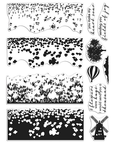 Hero Arts - Clear Stamp - Color Layering Tulip Field Heroscapes
