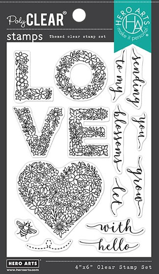Hero Arts - Clear Stamp - Floral Love