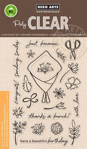 Hero Arts - Clear Stamp - Flower Bouquet Pieces