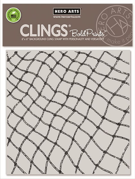 Hero Arts - Cling Rubber Stamp - Fishing Net Bold Prints