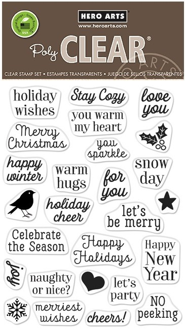 Hero Arts - Clear Stamp - Hero Greetings Christmas Messages