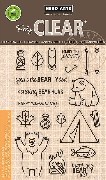 Hero Arts - Clear Stamp - Camp In The Wild