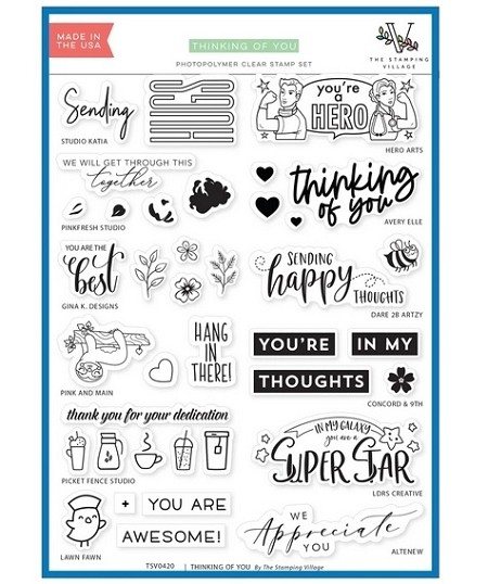 The Stamping Village - Clear Stamp - Thinking of You