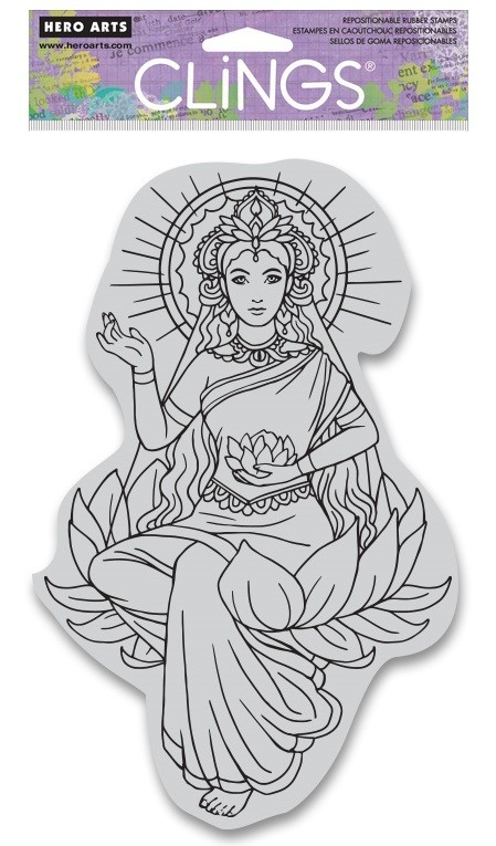Hero Arts - Cling Rubber Stamp - Lotus Lady