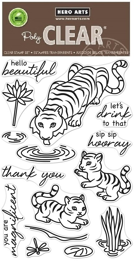 Hero Arts - Clear Stamp - Tiger Wisdom