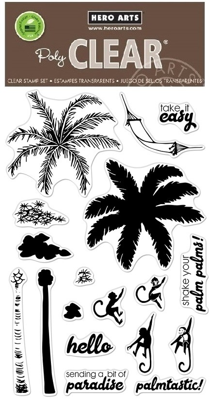 Hero Arts - Clear Stamp - Color Layering Palm Tree
