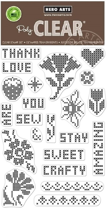 Hero Arts - Clear Stamp - Cross Stitch Patterns