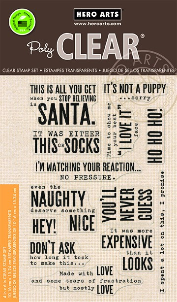 Hero Arts - Clear Stamp - Snarky Christmas Messages
