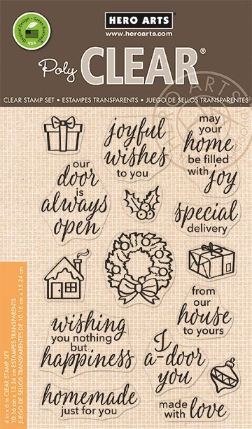 Hero Arts - Clear Stamp - May Your Home Be Filled with Joy