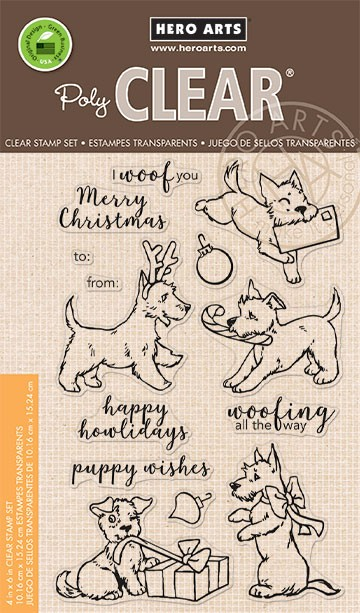 Hero Arts - Clear Stamp - Merry Woof