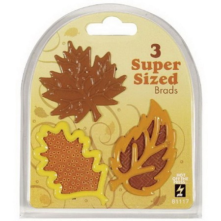 Hot Off The Press - Super Sized Brads - Fall Leaves