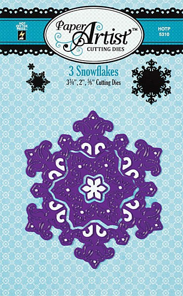 Hot off the Press - Die - 3 Snowflakes
