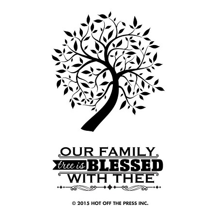 "Hot Off The Press - Clear Stamps - Small Family Tree (2""x3"")"