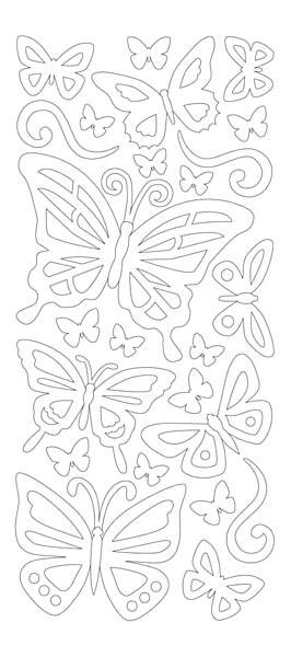 Hot off the Press-Dazzles Stickers-Double Stick Butterflies
