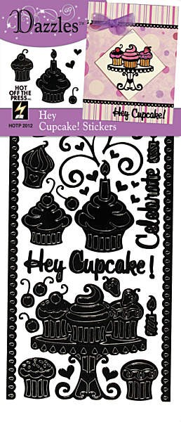 Hot off the Press-Dazzles Stickers-Hey Cupcake Black