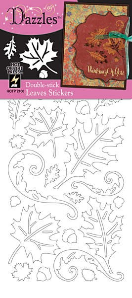 Hot off the Press-Dazzles Stickers-Double Stick Leaves