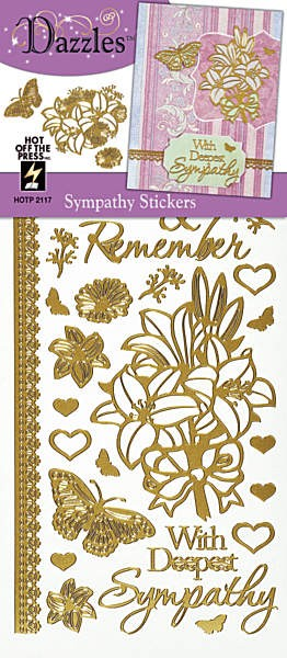 Hot off the Press-Dazzles Stickers-Sympathy Gold