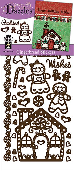 Hot off the Press-Dazzles Stickers-Gingerbread Brown