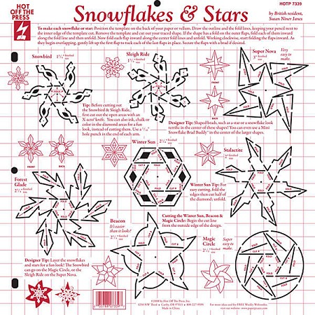 Hot off the Press-12x12 Template-Snowflakes & Stars