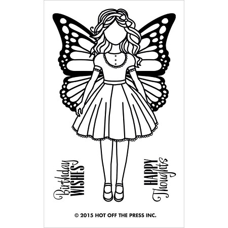 "Hot Off The Press - Clear Stamps - Small Girl with Wings (2""x3"" set)"