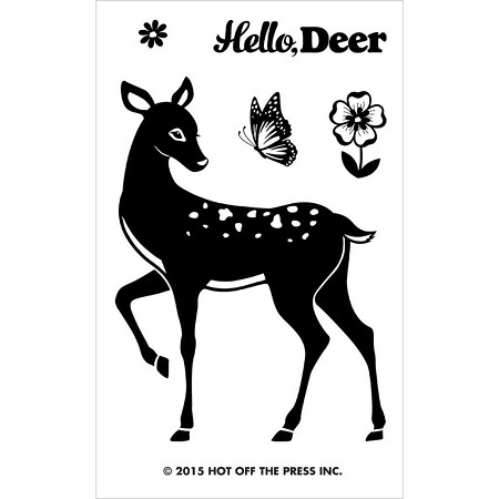 "Hot Off The Press - Clear Stamps - Small Deer (2""x3"" set)"
