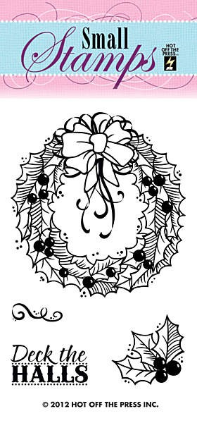 Hot Off The Press - Mini Clear Stamps - Wreath