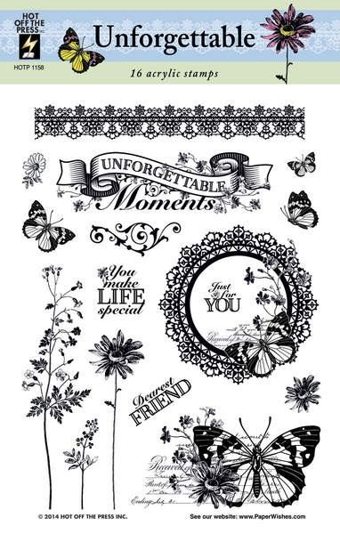 Hot Off the Press - Mini Clear Stamps - Unforgettable