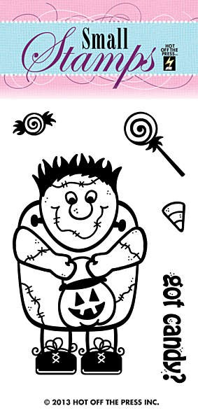 Hot off the Press-Mini Clear Stamp-Halloween Monster