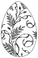 Impression Obsession Cling Mounted Rubber Stamp - Easter Egg