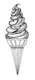 Impression Obsession Cling Mounted Rubber Stamp - Twist Cone