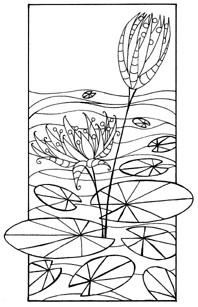 Impression Obsession Cling Mounted Rubber Stamp - Pond