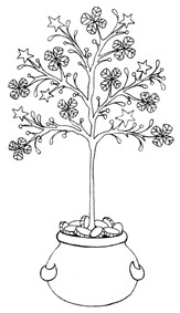 Impression Obsession Cling Mounted Rubber Stamp - Clover Tree