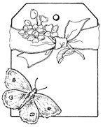 Impression Obsession Cling Mounted Rubber Stamp - Hydrangea Tag