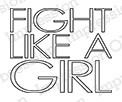 Impression Obsession - Cling Mounted Rubber Stamp - By Kalani Allred - Fight Like A Girl