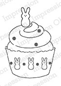 Impression Obsession - Cling Mounted Rubber Stamp - By Alesa Baker - Sweet Bunny Cupcake