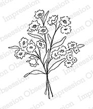 Impression Obsession - Cling Mounted Rubber Stamp - By Alesa Baker - Sunny Flowers Bouquet
