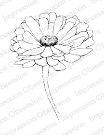 Impression Obsession - Cling Mounted Rubber Stamp - By Tara Caldwell - Zinnia