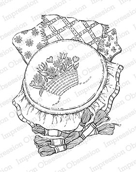 Impression Obsession - Cling Mounted Rubber Stamp - By Tara Caldwell - Needlepoint