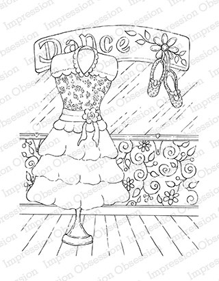 Impression Obsession - Cling Mounted Rubber Stamp - By Tara Caldwell - Dance