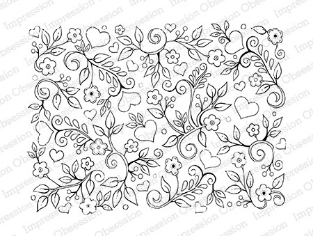 Impression Obsession - Cling Mounted Rubber Stamp - By Tara Caldwell - Simple Flower Background