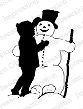 Impression Obsession - Cling Mounted Rubber Stamp - By Dina Kowal - Snowman Builder