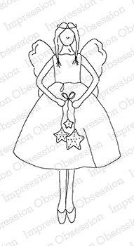 Impression Obsession - Cling Mounted Rubber Stamp - By Alesa Baker - Sugarplum Angel